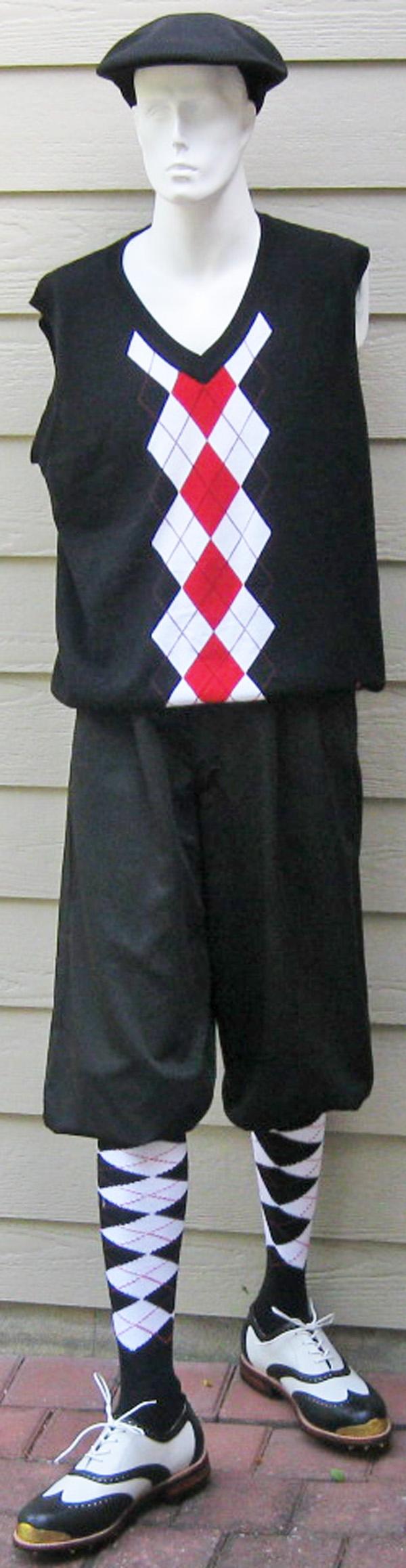 ae1bd874 Men Black Knickers-Argyle Vest-Argyle socks-Cap